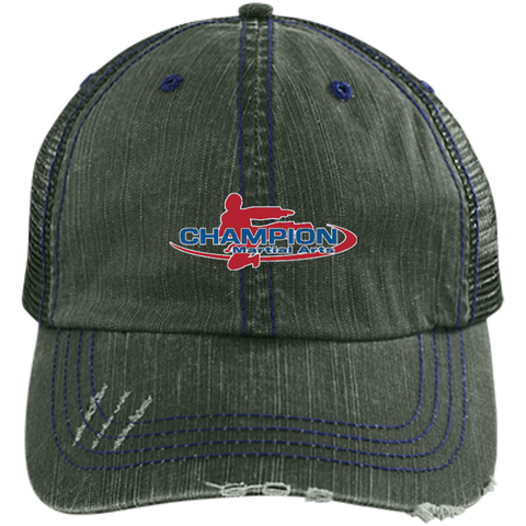 Distressed Unstructured Trucker Cap