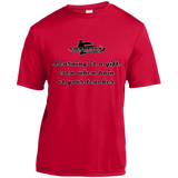 Short Sleeve Moisture-Wicking Shirt - Learning is a gift