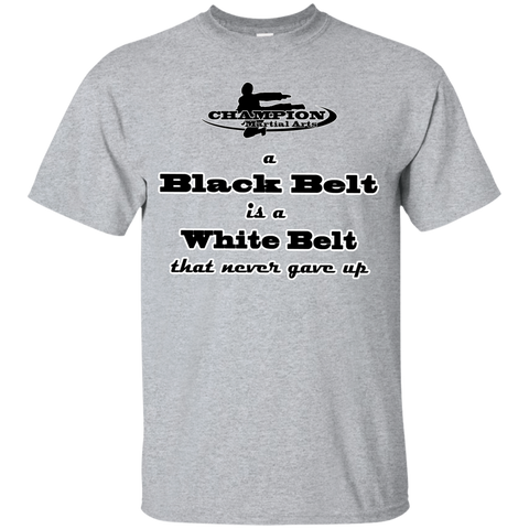 Youth Custom Ultra Cotton Tee - A black belt is a white belt...