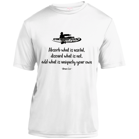Youth Moisture-Wicking Shirt - Absorb what is useful