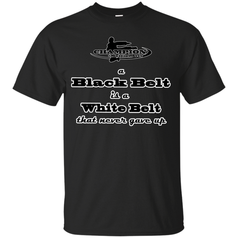 Youth Custom Ultra Cotton Tee - BB A black belt is a white belt...