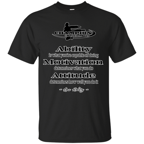 Youth Custom Ultra Cotton Tee - BB Attitude determines how well you do it.