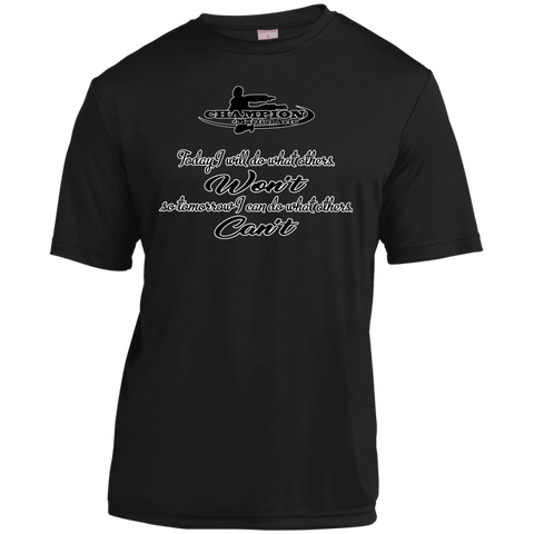Youth Moisture-Wicking Shirt - BB Today I will do what others won't