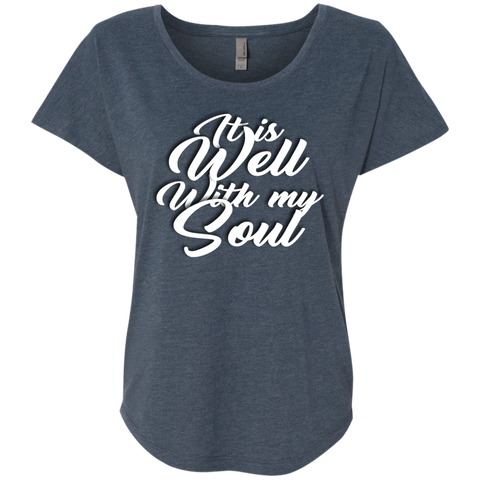 Next Level Ladies Triblend Dolman Sleeve - It is well with my soul