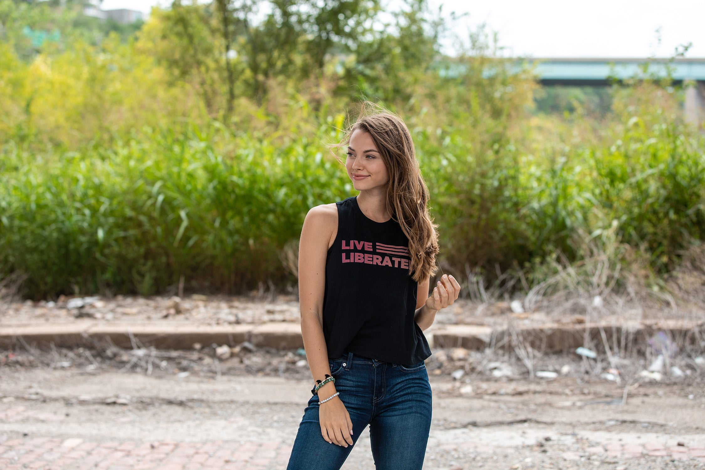 Live Liberated Cropped Muscle Tank