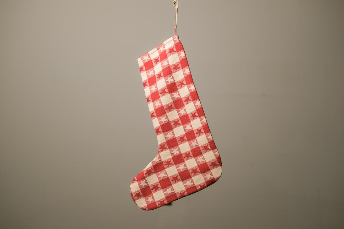 Red & White Stars Stocking
