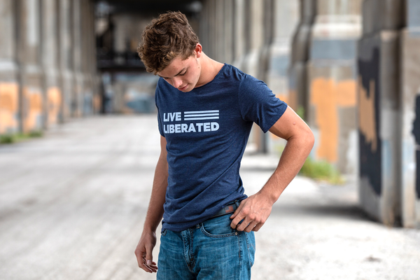 Live Liberated Raw Neck T-shirt