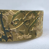 Gold Wide Cuff Custom Handmade in Cairo