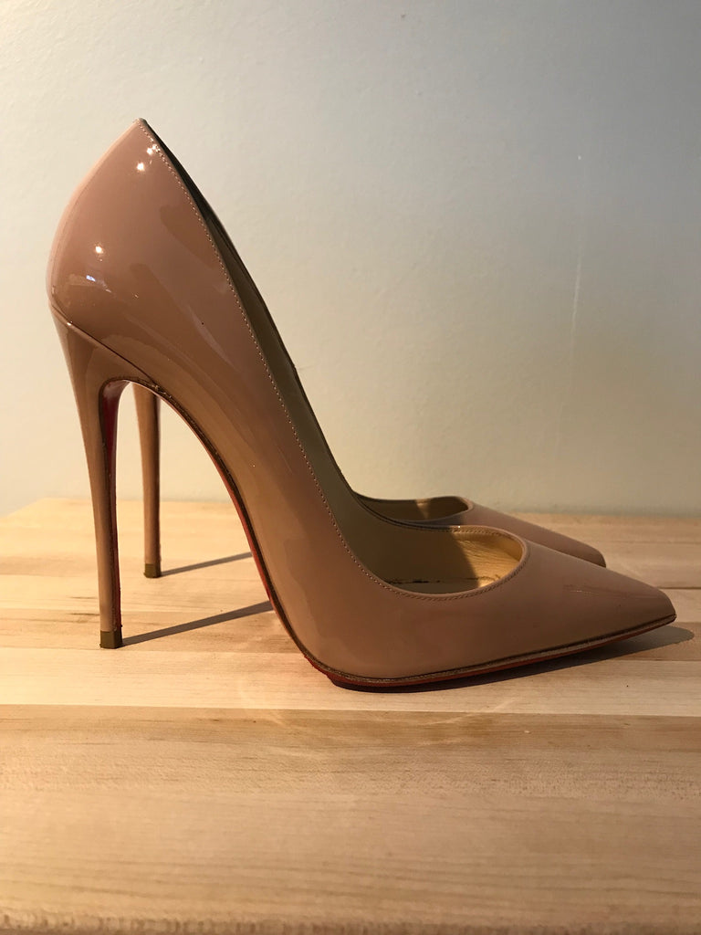 151130a02a4d7 Christian Louboutin So Kate Patent Nude 37.5 – A'Bel Consignment