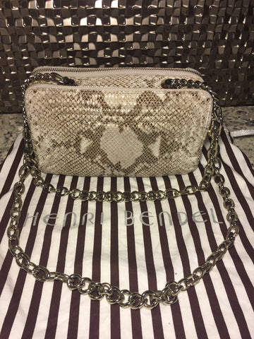 Henri Bendel Exotic Skinned Chain Bag