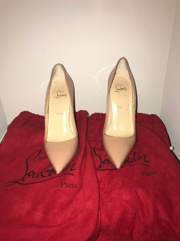 Christian Louboutin So Kate Nude Patent 38