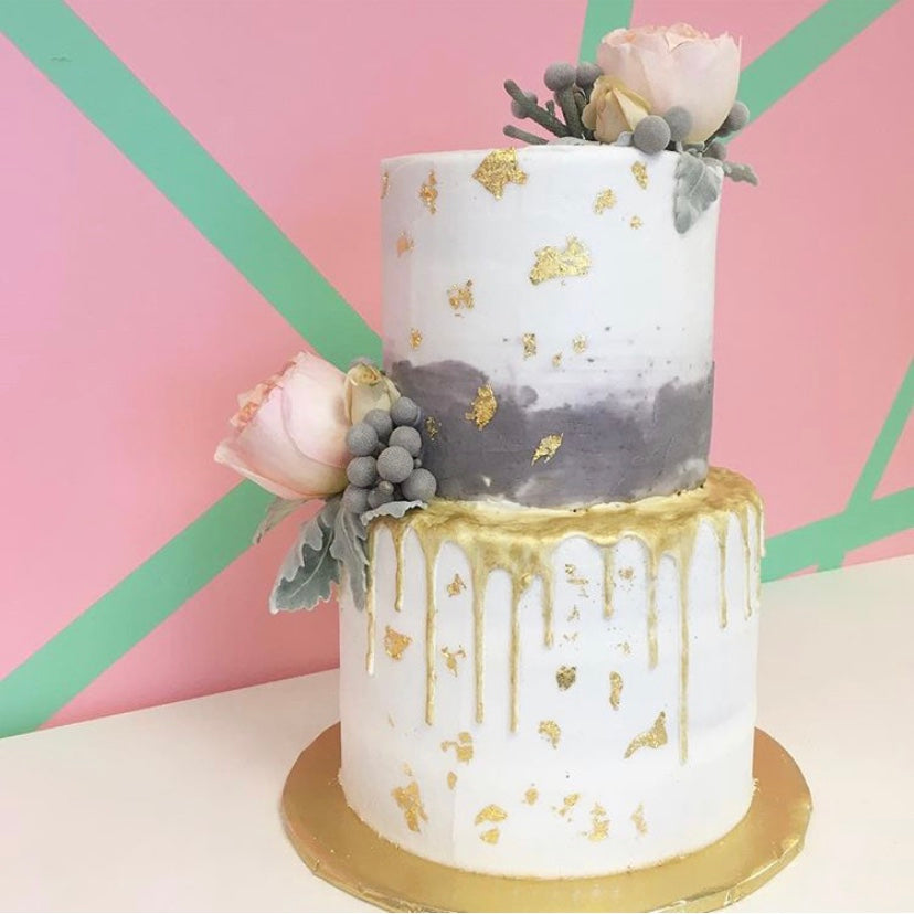Intermediate Level Buttercream Cake Decorating + Stacking
