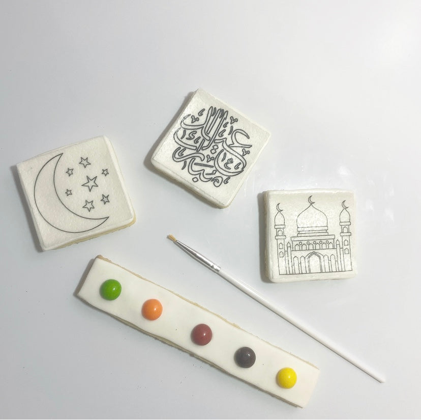 Eid Watercolor Painting Cookie Kit