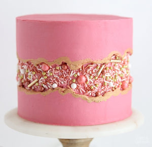 Basics of Cake Decorating + Fault Line Cake