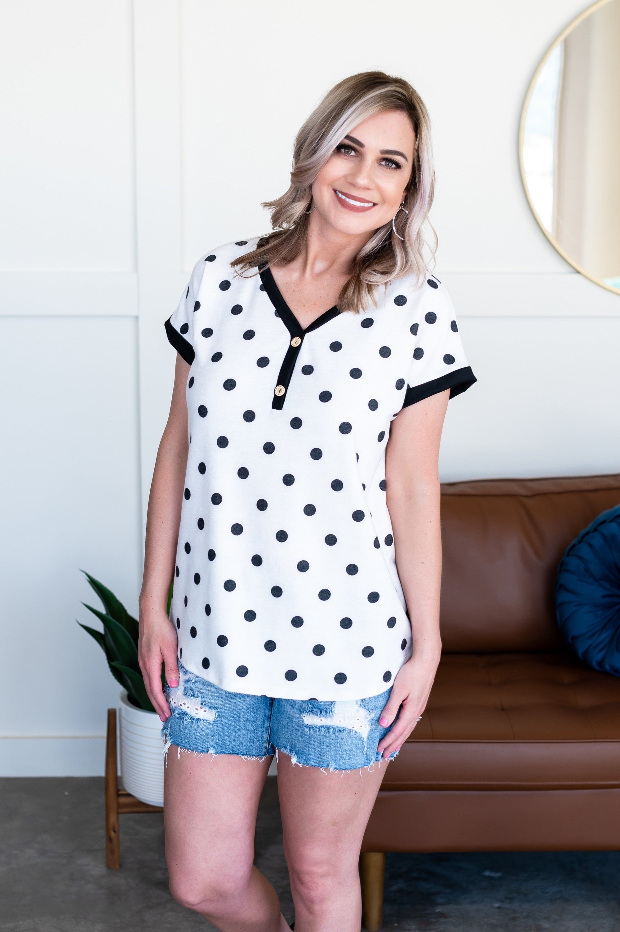 All In Good Fun Polkadot Top