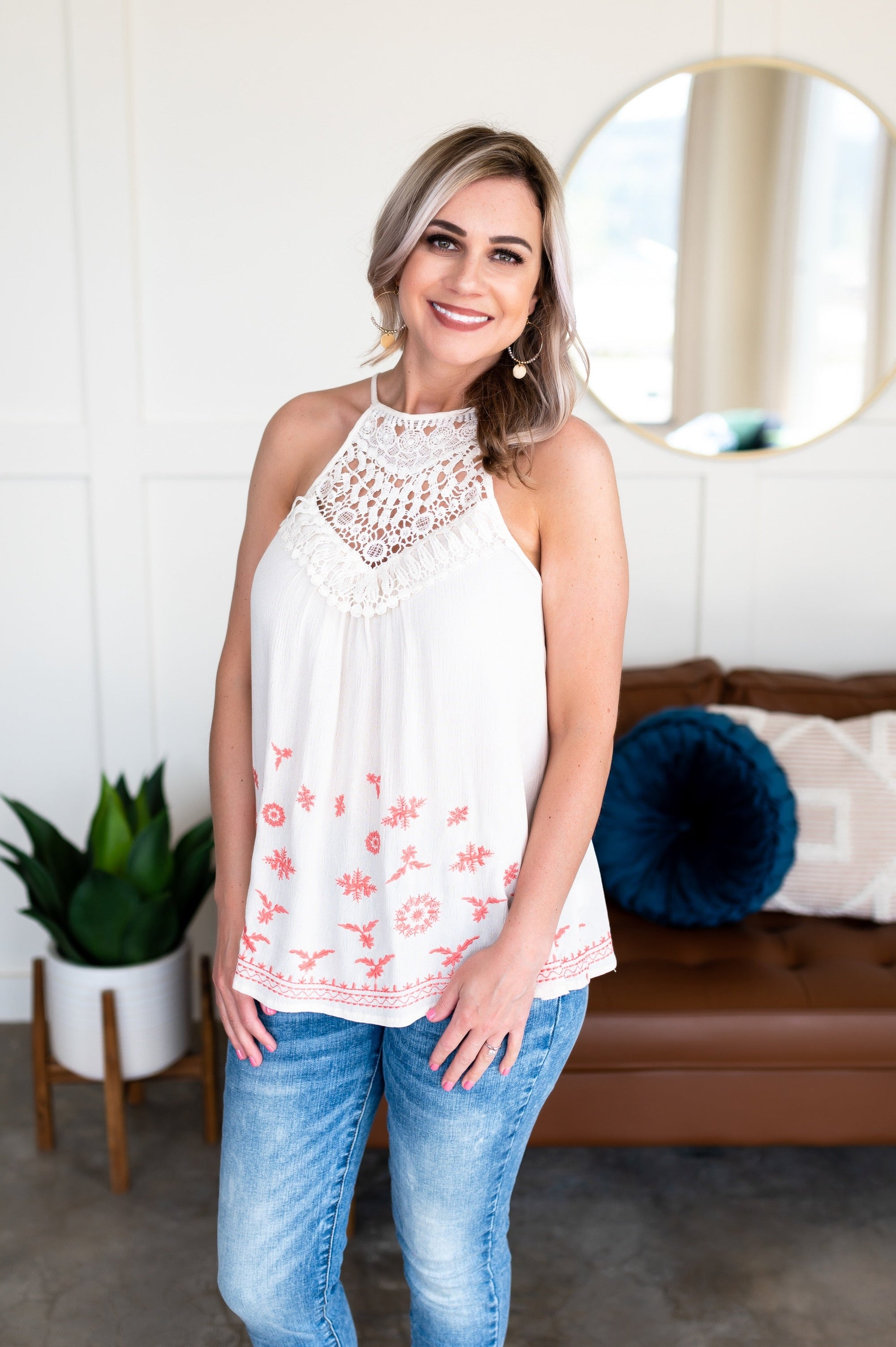 Steal The Scene Crotchet Sleeveless Top