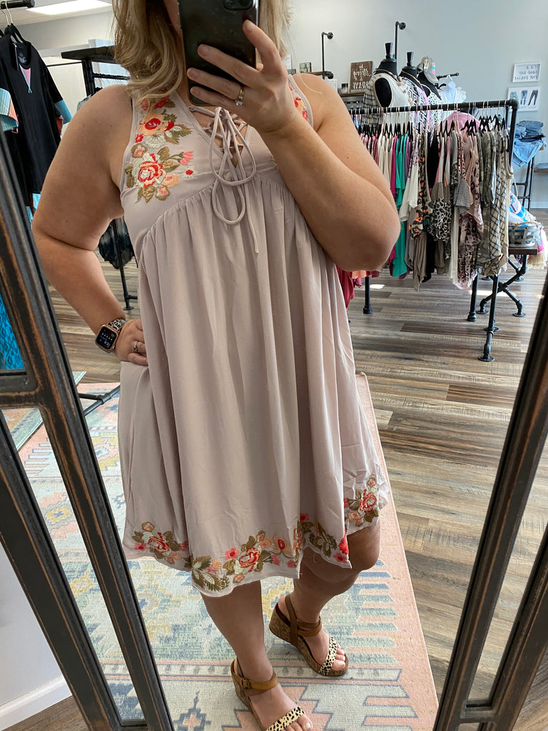 Tripical Taupe Dress