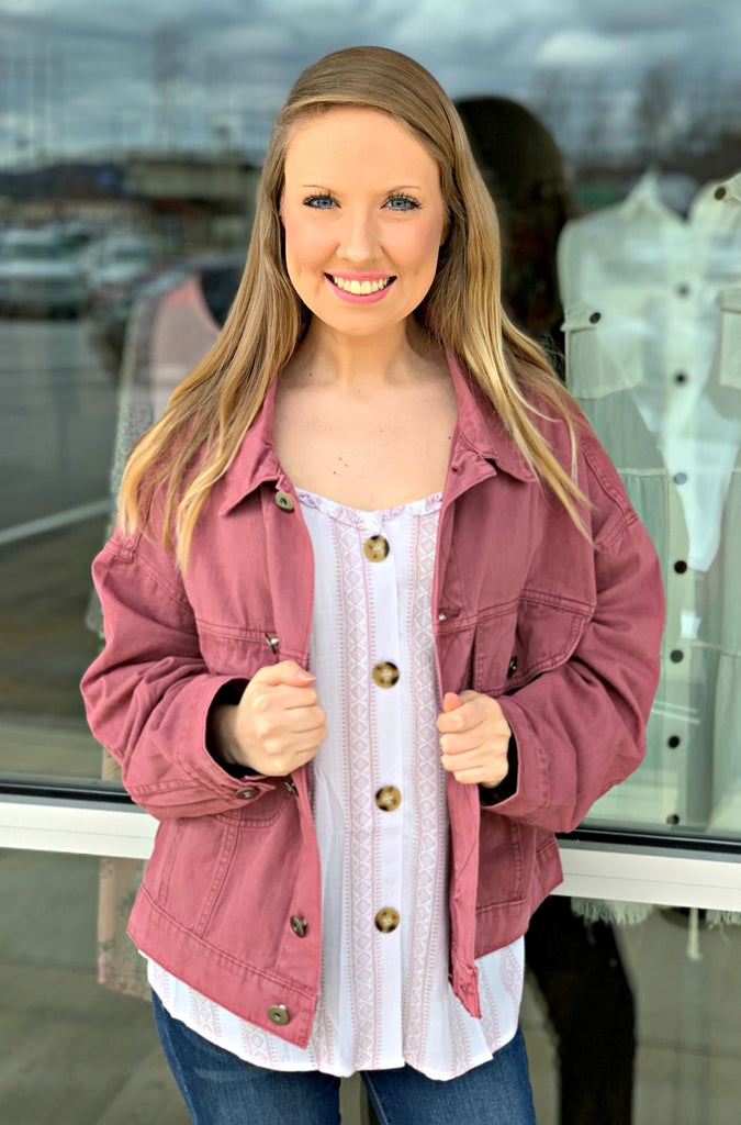 Raspberry Love Jacket