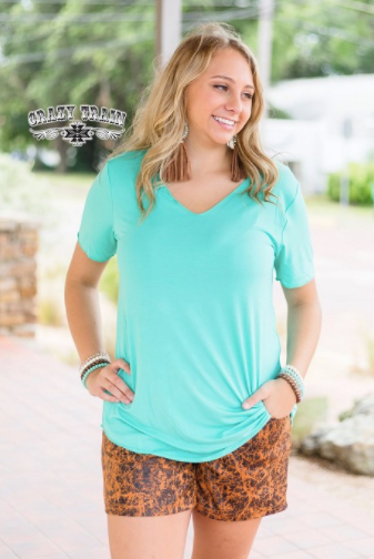 Butter Basic Top in Turquoise