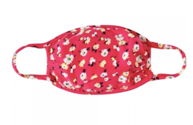 Masks - Red with a Hint of Pink Floral