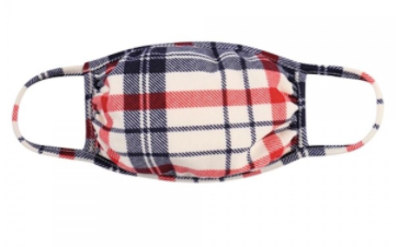 Cherry Plaid Mask