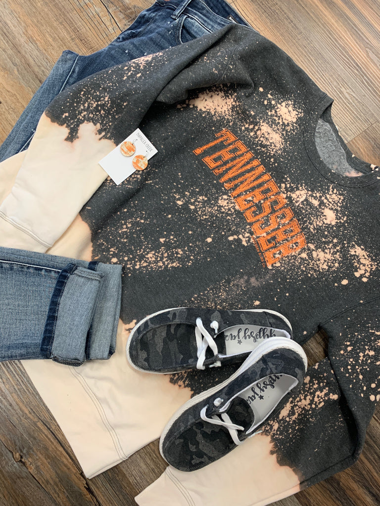 Tennessee Bleached Heather Charcoal Sweatshirt