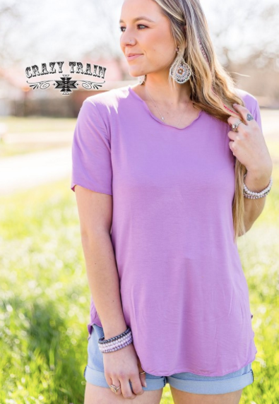 Butter Basic Top in Lavender