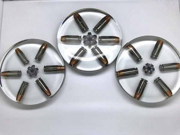 "4"" Bullet Coasters set of 4"