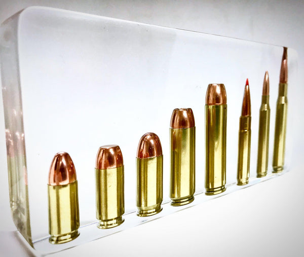 Large Block Display Multiple Calibers 9mm - 308 Win