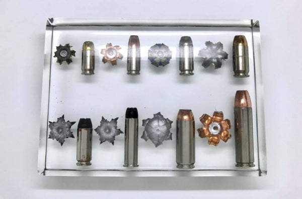 Wall of Multiple Caliber Bullets