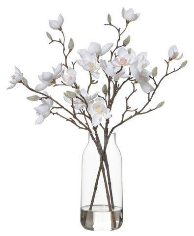 "New Rogue Artificial Flower Arrangement ""Magnolia Harper Vase"" 45 cm"