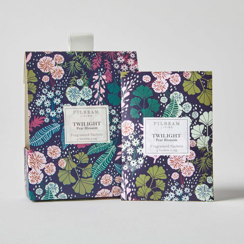 Pilbeam Twilight Scented Mini Sachets 4 x 10g per box in Purple Blossom Pear