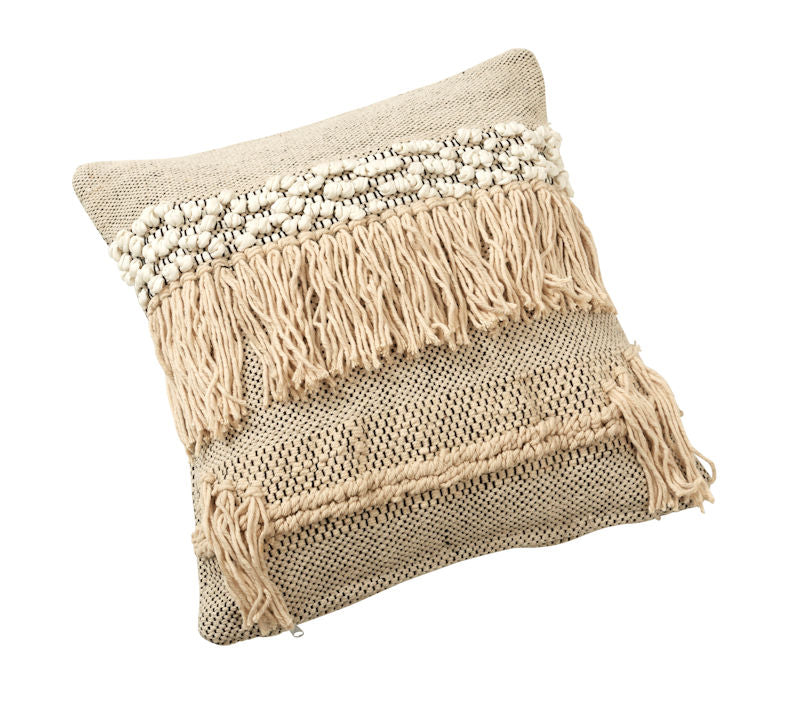 "Amalfi ""Lennox"" Cotton Cushion in Natural 45 x 45 cm"