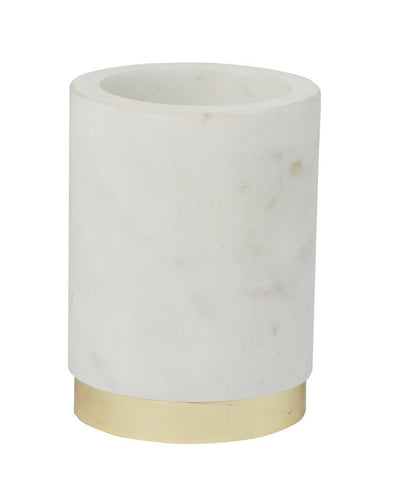 Amalfi Marble Brass Holder Tumbler 7.5 x 10 cm