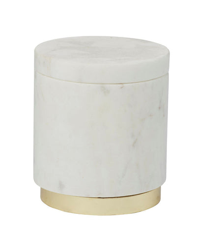 Amalfi Marble Brass Canister 9 x 10 cm