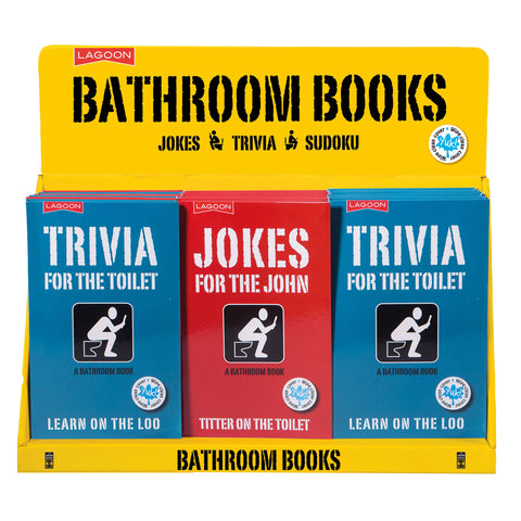 Lagoon Bathroom Books Trivia for the Toilet /Jokes for the John Novelty Gift