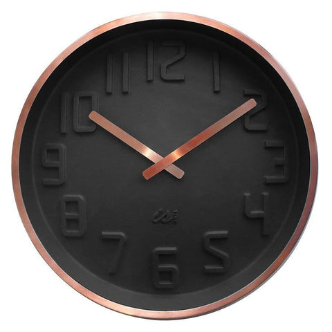 "IS GIFT ""Curve"" Wall Clock Copper 40cm w/ Choices"