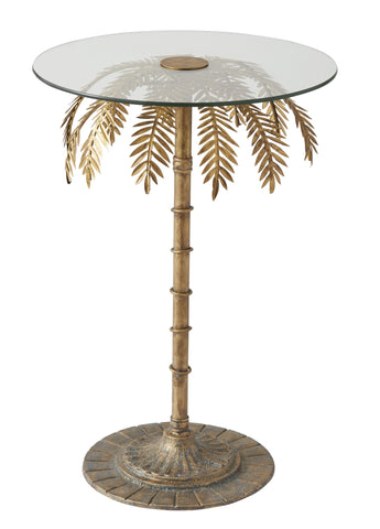 "Amalfi ""PALM TREE"" SIDE TABLE in Gold 43 x 73 cm"