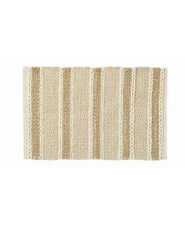"New Amalfi ""Adaline"" Utility Rug in Natural White Jute & Cotton 60 x 90 cm"