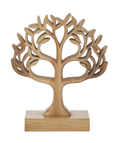 New Amalfi Tree of Life Sculpture by Acacia Wood 20 x 23 cm