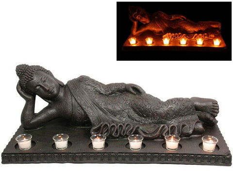 Brand New Brand New Buddha RULAI Lying Down Tealight Candles Garden Statue Ornament 86cm L
