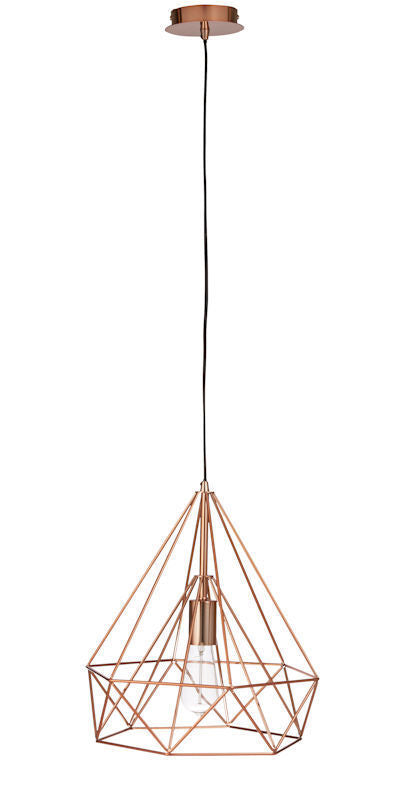 "New Amalfi ""Geo"" Copper Metal Pendant Light 150cm"