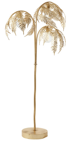 "New Amalfi ""Palm"" Gold Floor Lamp 186cm"