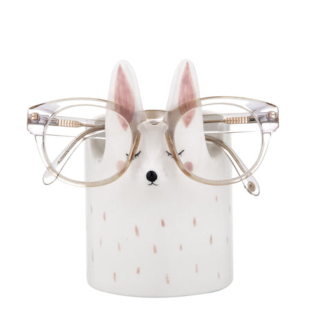 "New Emporium ""RAGGIE"" Rbbit Reading Glass & Pen Holder 10.4 X 14 cm"