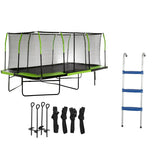 Upper Bounce Mega 10x17 trampoline bundle set