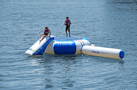Rave Sports Splash Zone Plus 12' with slide and log