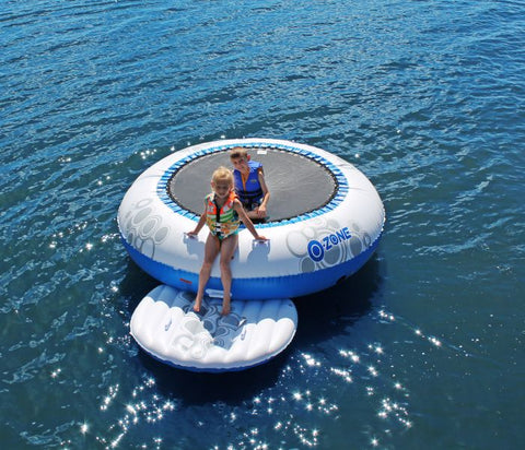 O-Zone water Trampoline Bouncer with platform by Rave Sports room for 2 kids