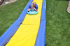 Image of The Turbo Chute Water Slide Backyard Package by Rave Sports with people sliding down it