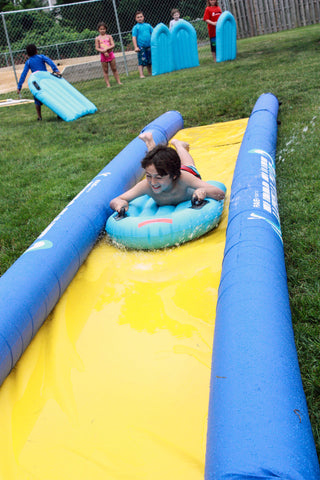 The Turbo Chute Hill & Lake Water Slide 20'