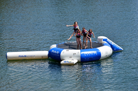 Rave Sports Splash Zone Plus 16' with slide and log